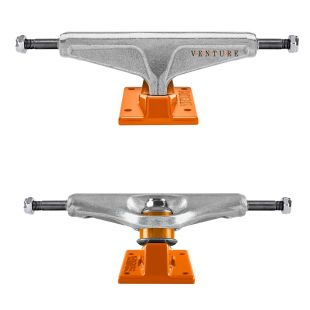 Venture Trucks Dot Polished (silver/orange)