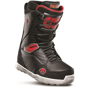 Mens ThirtyTwo Lashed Crab Grab Snowboard boots (black/red/white)