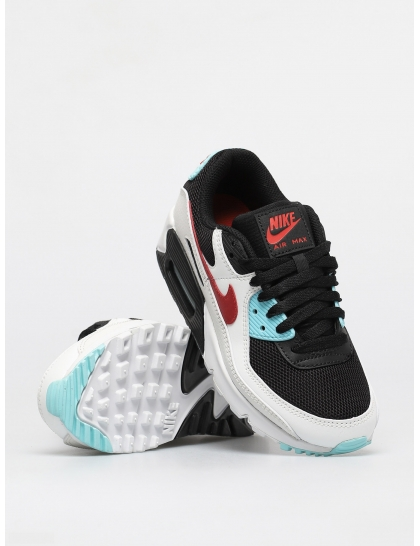 Кеды Nike Air Max 90 Wmn (summit white/chile red bleached aqua)