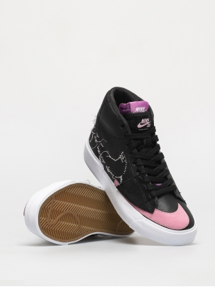 Кеды Nike SB Zoom Blazer Mid Edge (black/pink rise white purple nebula)