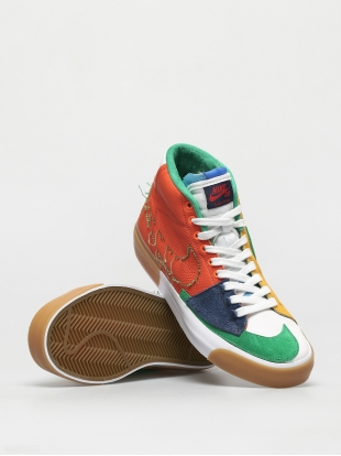 Кеды Nike SB Zoom Blazer Mid Edge (safety orange/lucky green)
